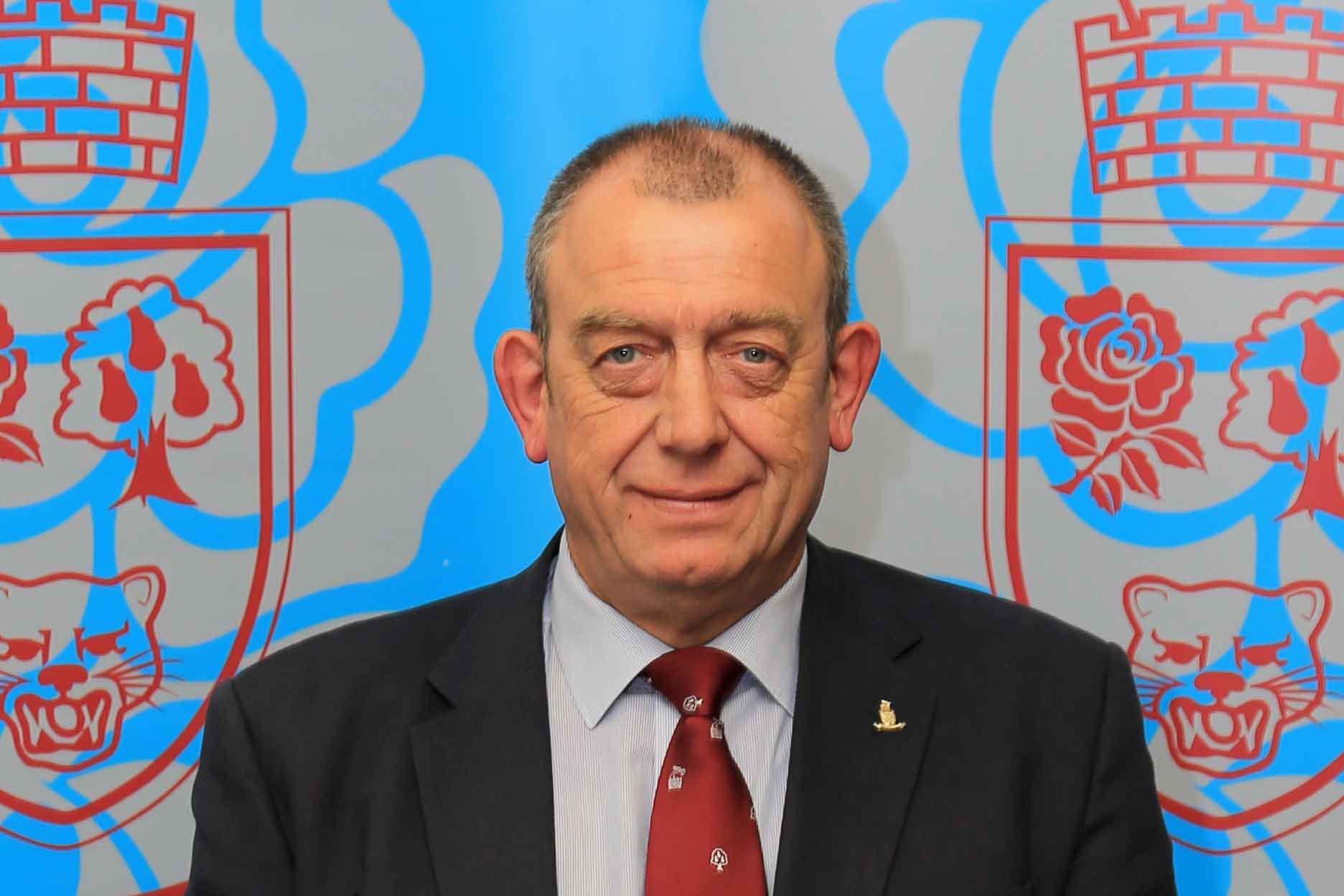 Charlie Hemmings, Chairman North Midlands RFU