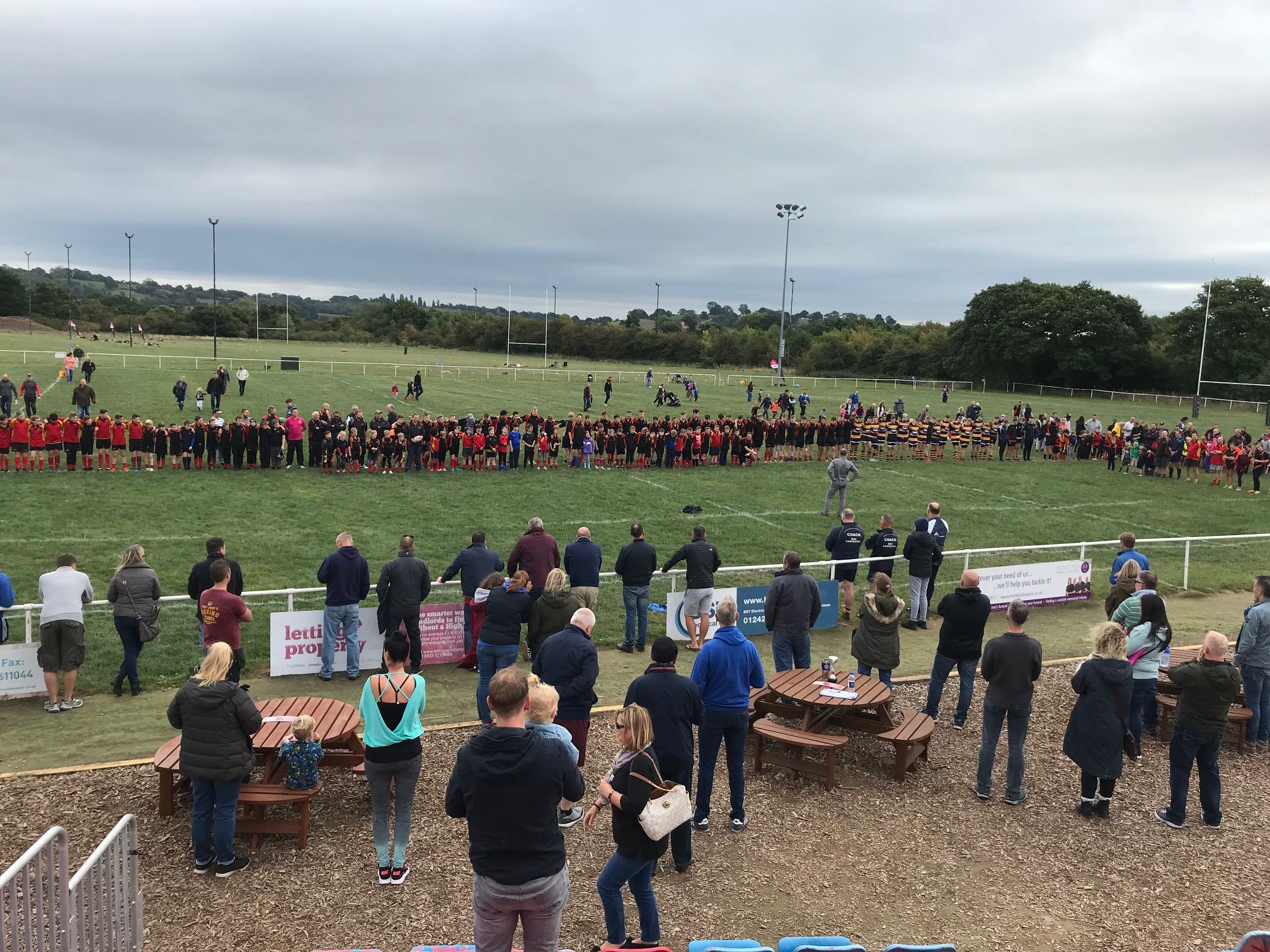 Kings Norton youth teams observe minute's silence for former president Chris Cooksey