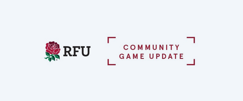 Latest RFU Community Update 27th October 2020