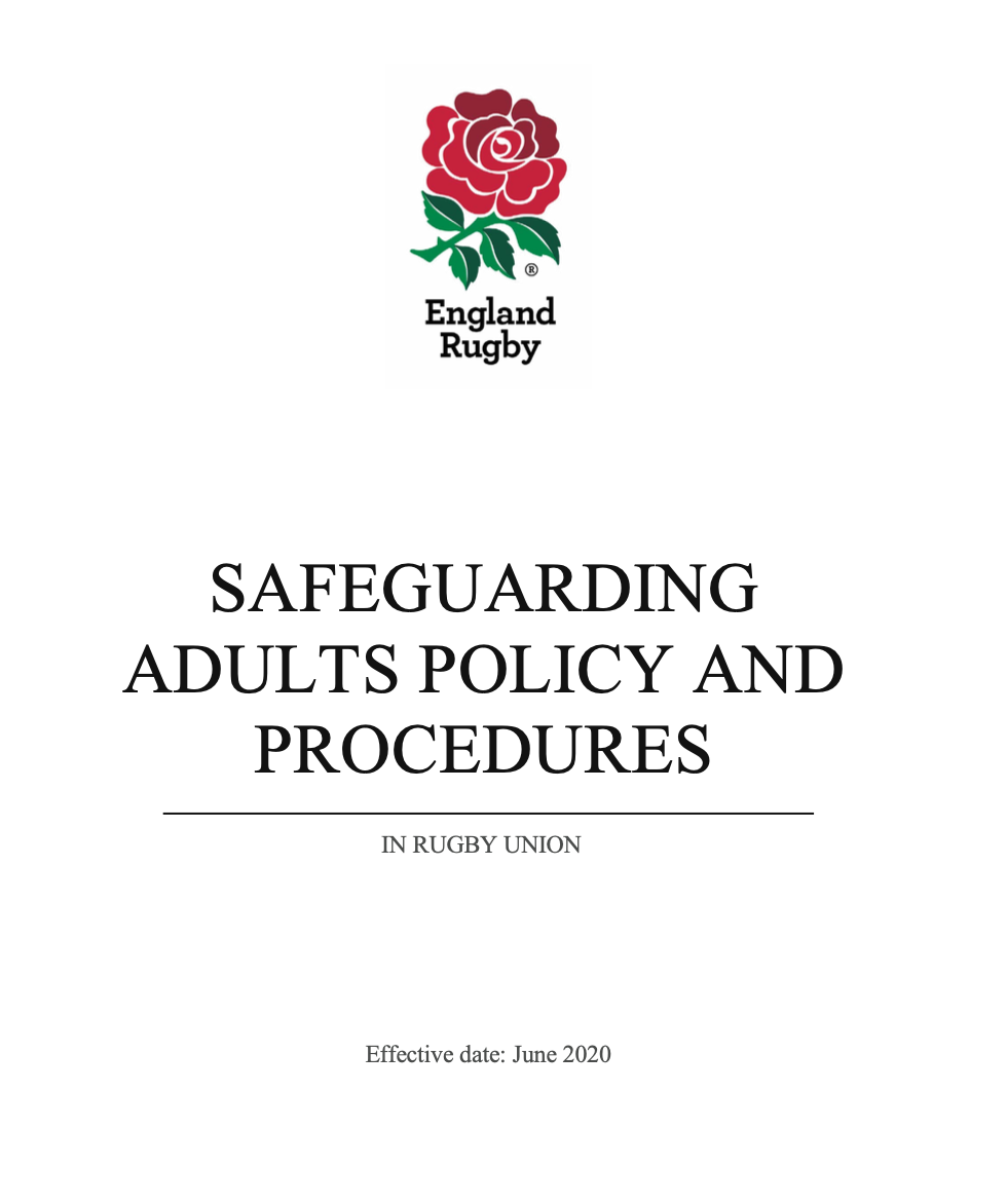 NEW Safeguarding Adults Policy and Procedures