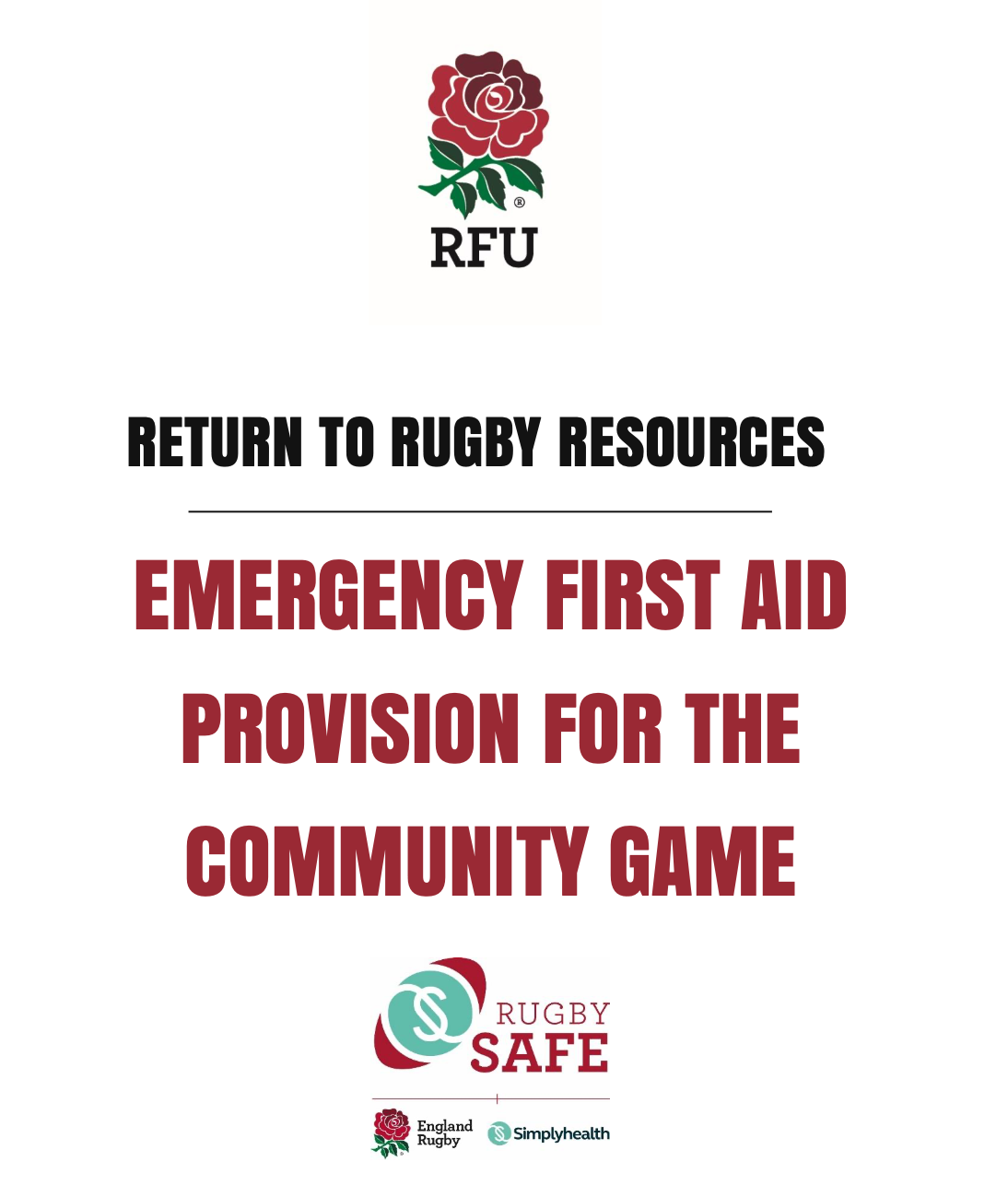 Emergency First Aid Provision for the Community Game