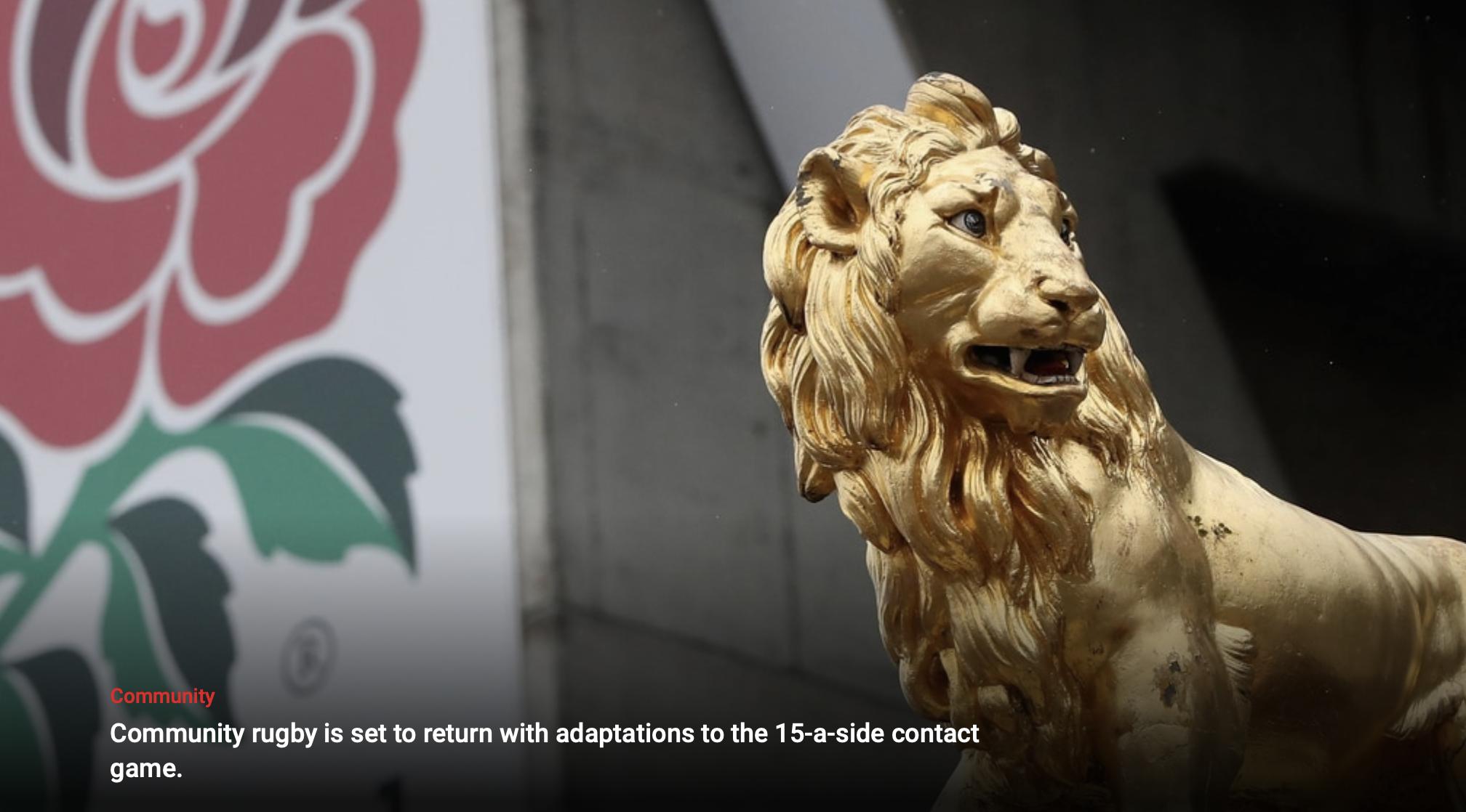 RFU update on return to Community Rugby