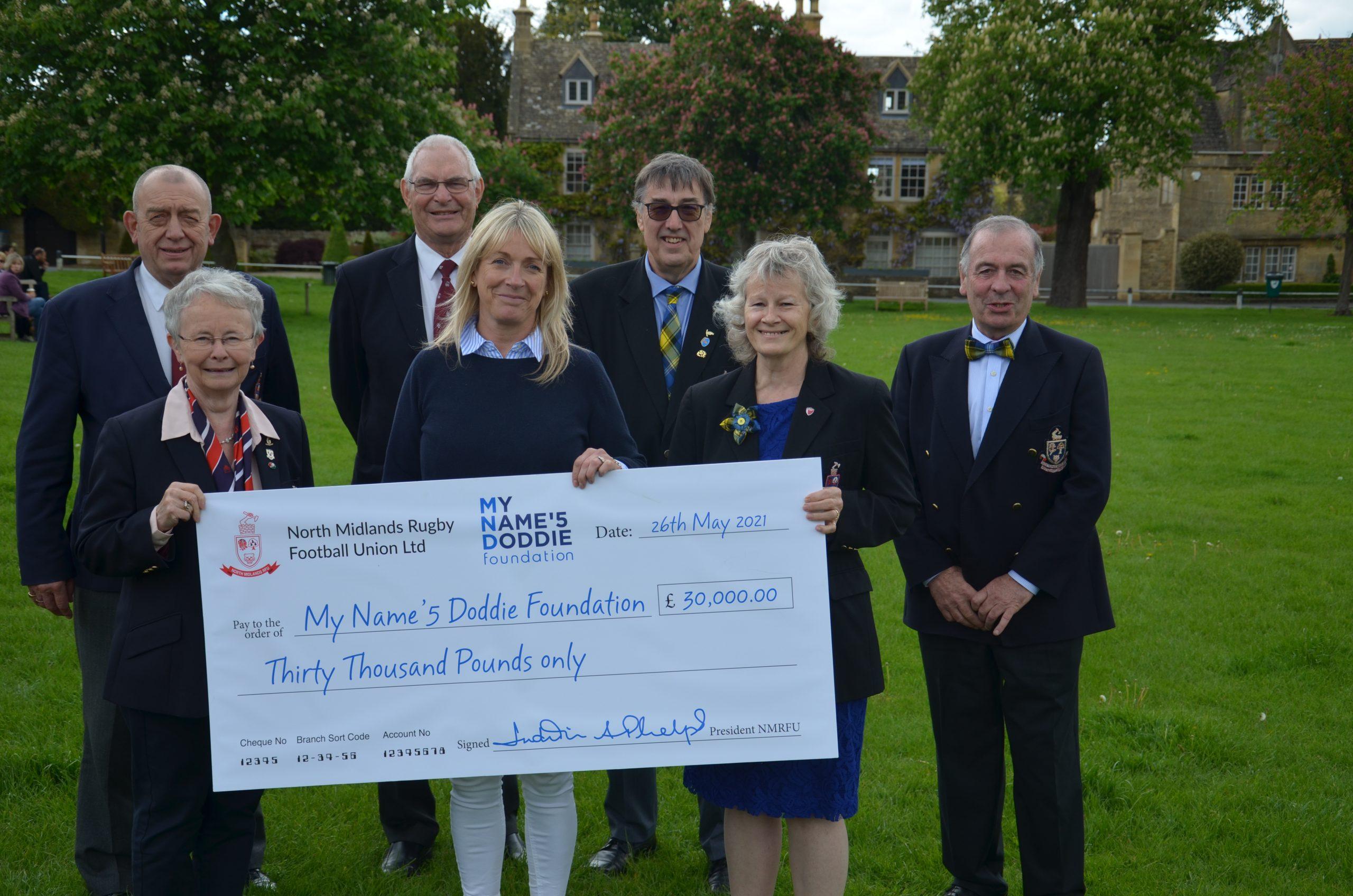 North Midlands RFU raises £30,000 for My Name'5 Doddie Foundation